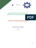 Analizar Productos Aguas y Productos Alimenticios Con Metodos Microbiologicos