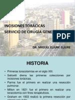 INCISIONES TORACICAS