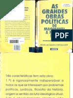 As grandes obras políticas de Maquiavel a nossos dias. Jean-Jacques Chevallier. Rio de Janeiro_ Agir, 1999[1]
