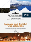 Inter Speech 2012 Sponsor and Exhibit Opportunities Brochure