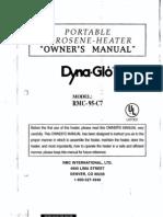 Dyna-Glo RMC-95 C7 Kerosene Heater User Manual