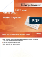 Exchange 2007 and Office 2007 Better Together