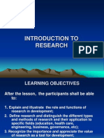 Introduction to Research 2007