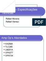 Amp Op's – Especificações Técnicas 2