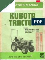 Kubota b5100-b6100-b7100 Owners Manual