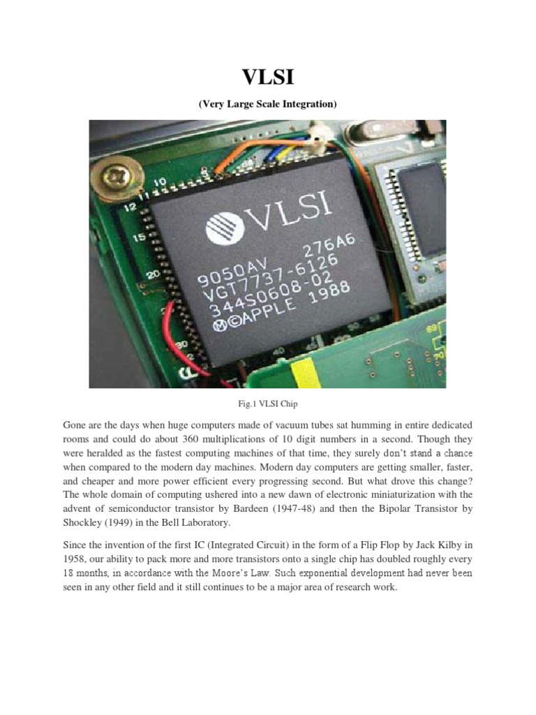 Vlsi Technology Very Large Scale Integration Integrated Circuit Ic