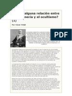 César Vidal - ¿Existe Alguna Relación Entre La Masonería Y El Ocultismo