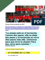 Noticias Uruguayas Viernes 18 de Noviembre de 2011