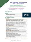 Health, Education, Social Protection News & Notes 24/2011