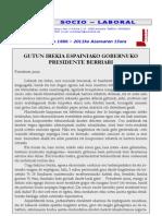 GUTUN IREKIA ESPAINIAKO GOBERNUKO PRESIDENTE BERRIARI - CARTA ABIERTA AL NUEVO PRESIDENTE DEL GOBIERNO ESPAÑOL