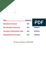 Mendelian Inheritance GE1