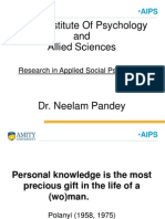 Research in Social Psychology