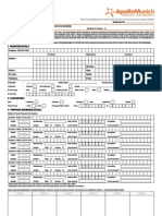 Easy Health Insurance Proposal Form