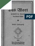 JESUS in der Neu Salems Bewegung - Das WORT 1921
