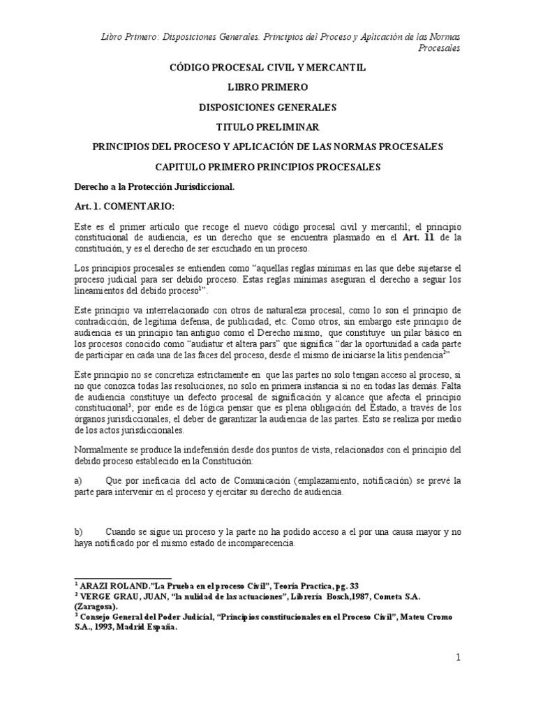 Codigo Procesal Civil Y Mercantil Comentarios Libro