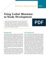 Using Lethal Mutation to Study Development