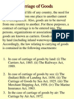 Law of Carriage of Goods