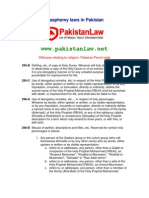 Blasphemy Laws in Pakistan