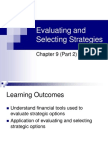 Evaluating and Selecting Strategies (2)