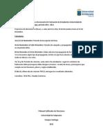 Calendario para el proceso eleccionario de Federación de Estudiantes Universidad de Valparaíso