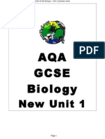 new aqa gcse biology unit 1 summary notes 1