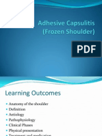 Adhesive Capsulitis Presentation May 2009