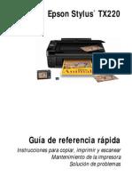 Manual Epson Tx220