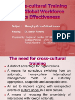 The Cross-Cultural Training for the Global Workforce And