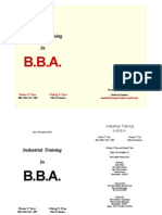INDUSTRIAL TRAINING IN BBA       978-81-908893-2-2   9788190889322