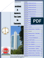 Tax Laws in Tanzania