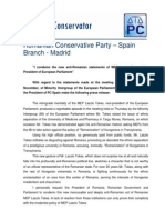 Press Release Conservative Party Tokes Laszlo