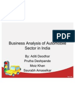 Business Analysis of Auto Indusrty