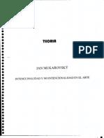 Mukarovsky - Intencionalidad y No Intencionalidad en El Arte