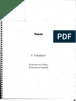Voloshinov - El Discurso en La Vida y El Discurso en La Poesía