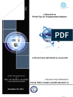 A Giant Research on World Top Air Transportation & Aviation Industry  (BAPS Publication)