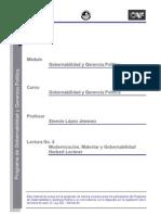 Lectura 2 - Modernización, malestar y gobernabilidad