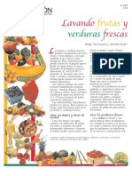 Washing Fresh Fruits and Vegetables (Spanish)