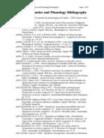 Arabic Phonetics and Phonology Bibliography
