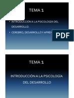 Tema 1 a Psicologia Desarrollo