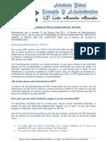 REGULARIZACIÓN DE ISR 2009 - AFISCA