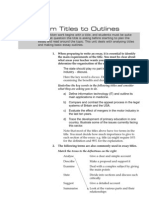 From Titles to Outlines (Hanbook for Ss)