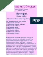 TIPOS DE PSICÓPATAS