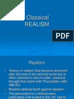 III. Classical Realism