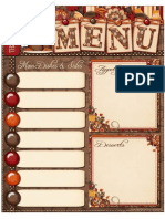 My Computer is My Canvas - FREEBIE Thanksgiving Menu