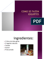 Como Se Fazem Iogurtes