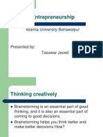 Lecture 5 Brainstorming