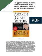 gigante dentro de cómo tomar Control inmediato de su destino Mental emocional físico y financiero por Anthony Robbins - Averigüe por qué me encanta!