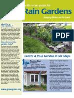 Austin Texas Rain Garden Fact Sheet