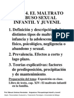 MALTRATO Y ABUSO SEXUAL INFANTIL Y JUVENIL