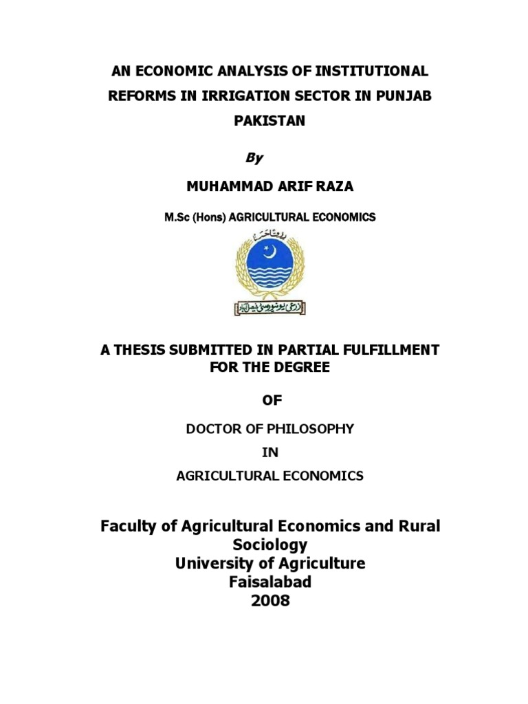 Phd thesis on water analysis
